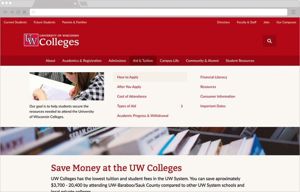 UW Colleges Website