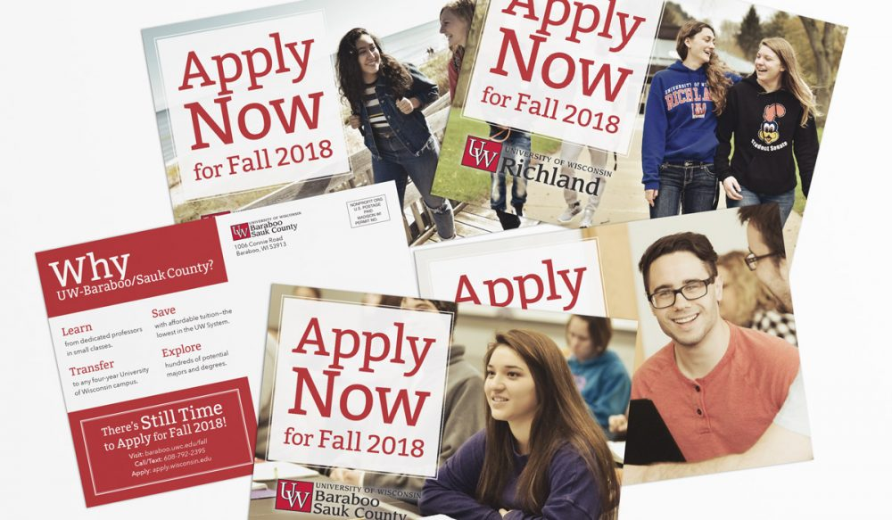 UW Colleges 2018 Fall Awareness Camapign, Direct Mail