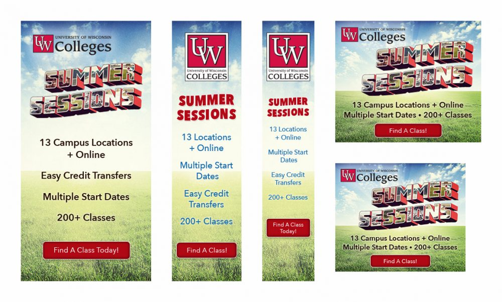 UW Colleges 2018 Summer Sessions, Digital Display